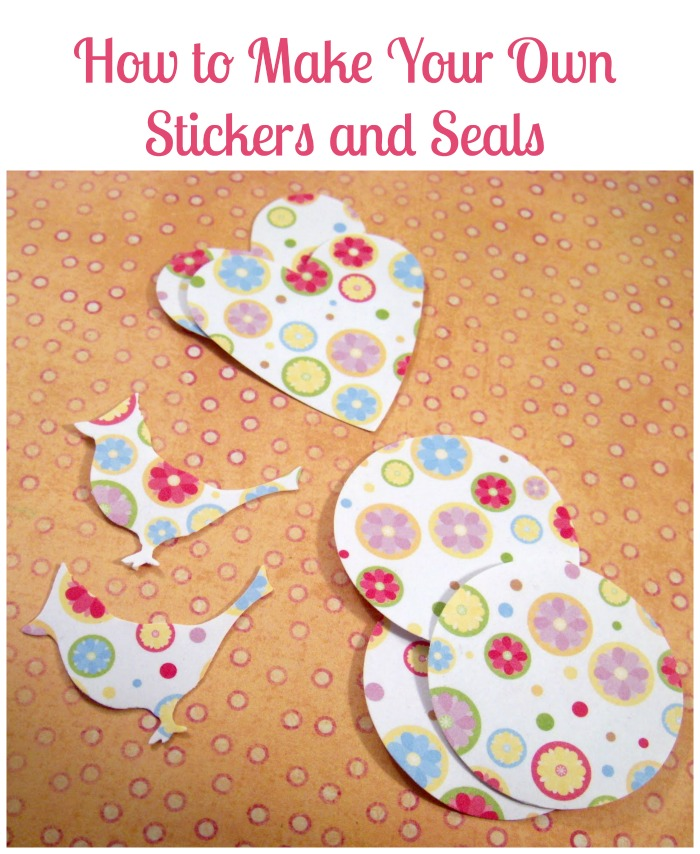 How to make your own stickers seals tutorial how was for How to print your own labels