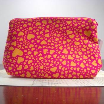 Pink Orange Heart Clutch