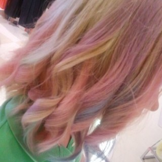 Ombre Hair Chalking with My Hair Chalk