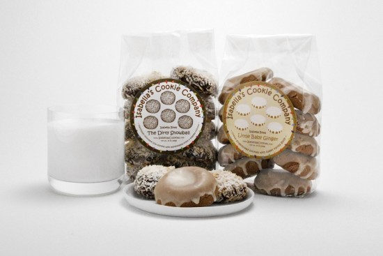 Baby Ginger and Dirty Snowball cookies from Isabella's Cookies