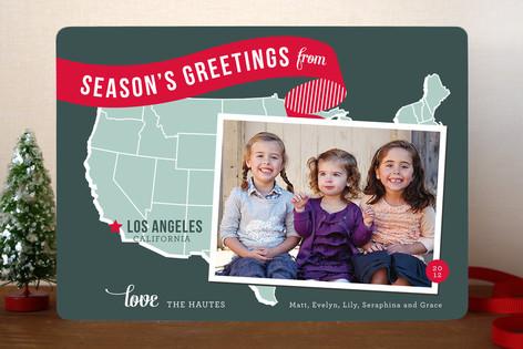 Holiday Map Postcard Christmas Card
