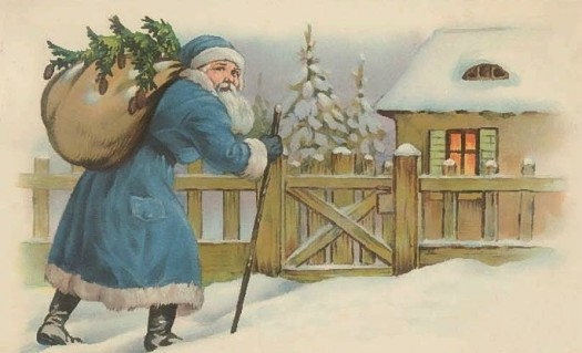 Vintage Christmas Santa Post Card