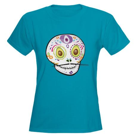 Avocado Sugar Skull Tee
