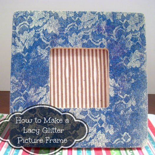 How to Make a Lacy Glitter Frame
