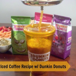 Iced Coffee Recipe at Home with Dunkin Donuts