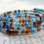 Memory wire wrap bracelet DIY