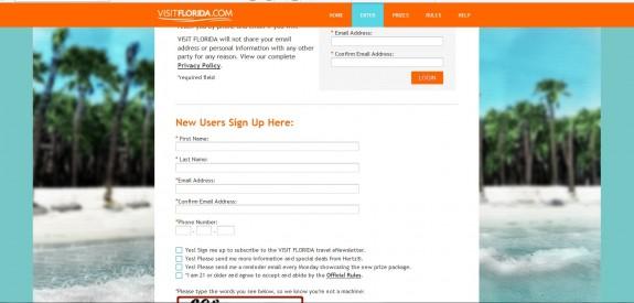 Visit Florida Entry Form