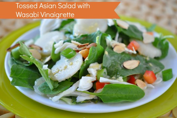 Tossed Asian Salad with wasabi Vinaigrette Recipe