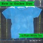 How to Ombre Dye a Shirt #summerofjoann