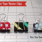 Decorated Binder Clips are Fun Duct Tape Crafts