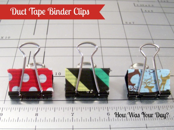 Duct tape binder clips crafts