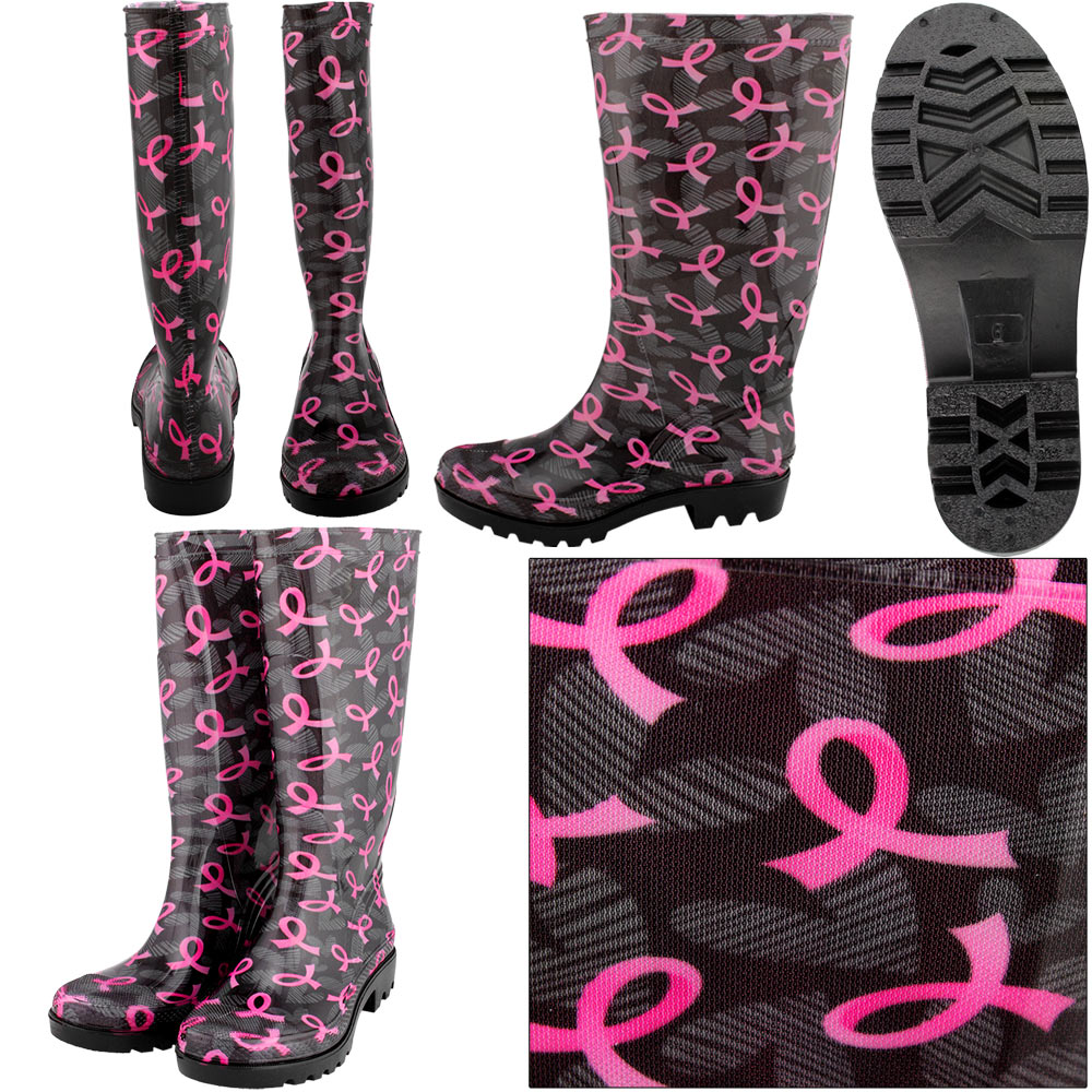 pink-ribbon-rainboots