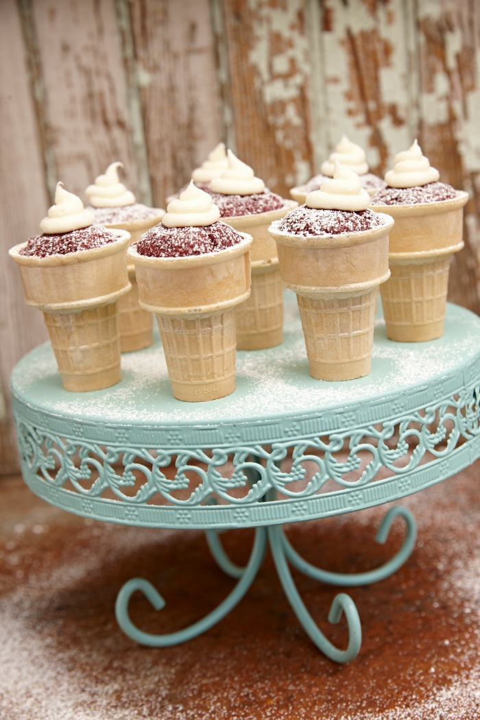 Spicy Red Velvet Cupcake Cones