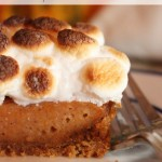Sweet Potato Pie with Whiskey and Marshmallows