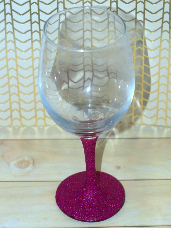 how to make glitter wine glasses a tutorial