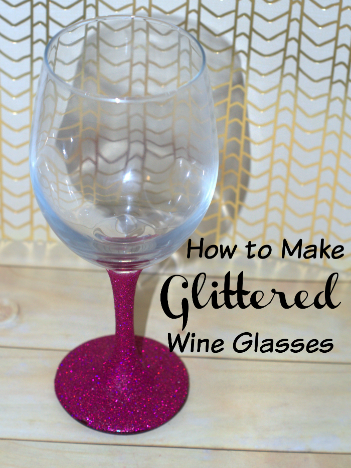 How to make glitter wine glasses a tutorial How to make wine glasses sparkle