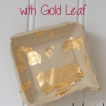 How to Make a Clay Ring Dish with Gold Leaf Accents