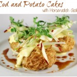 Cod and Potato Cakes with Horseradish Aioli