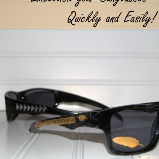 How to Make Your Own Embellished Sunglasses
