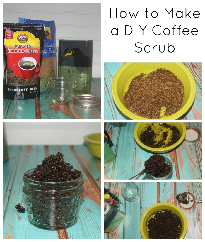 how-to-make-diy-coffee-scrub-collage