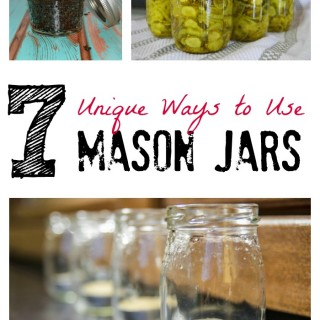 7 unique ways to use mason jars