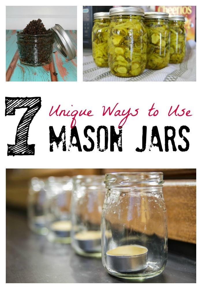 7 unique ways to use mason jars