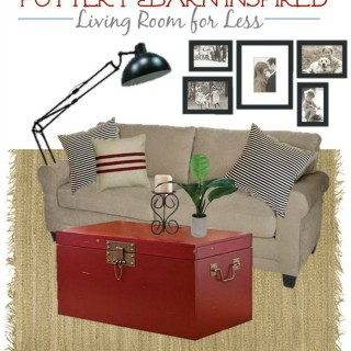 Pottery Barn Red Living Room