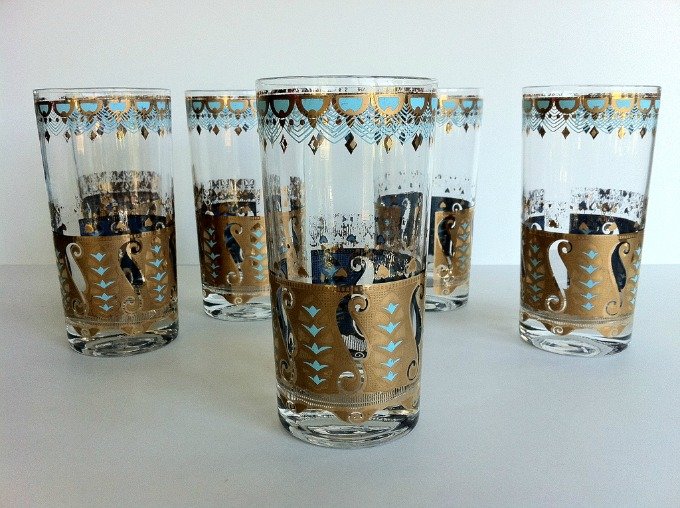 gold-turq-peacock-glassware