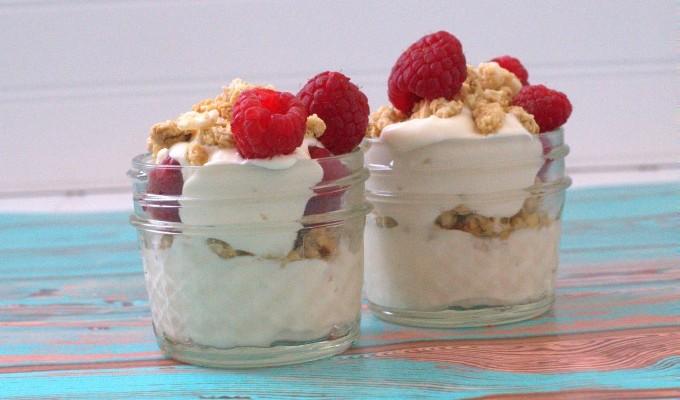 Honey Raspberry Muesli Yogurt Parfait