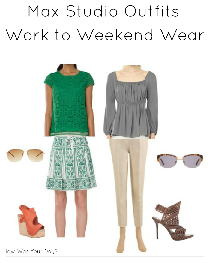 max studio outfits work to weekend
