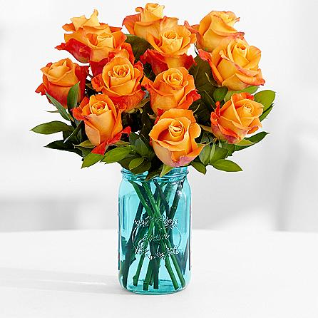 orange-roses-in-mason-jar