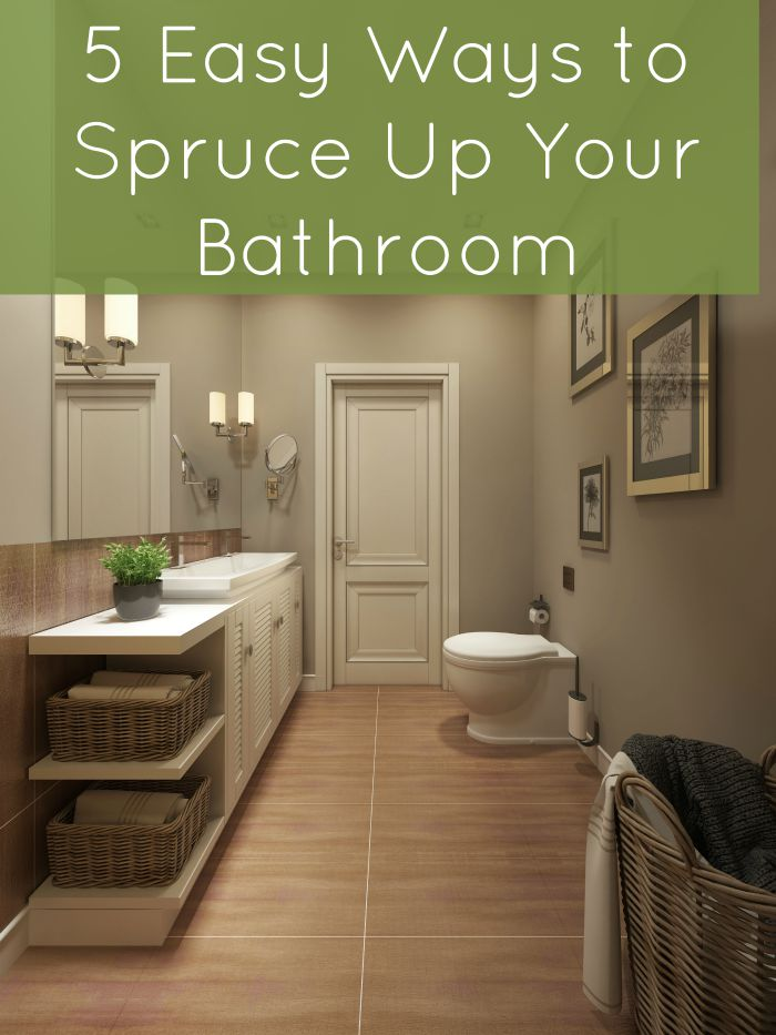 5 easy ways to spruce up your bathroom