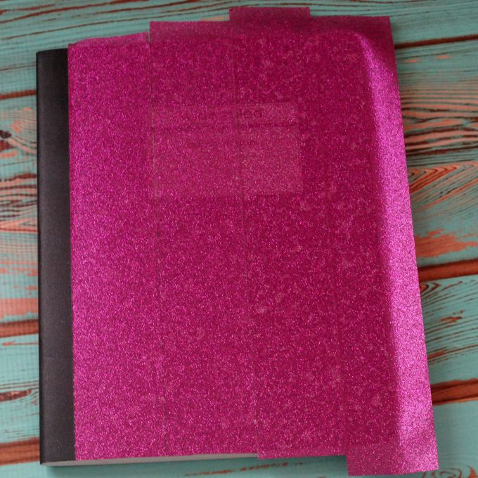 glittered composition book 3