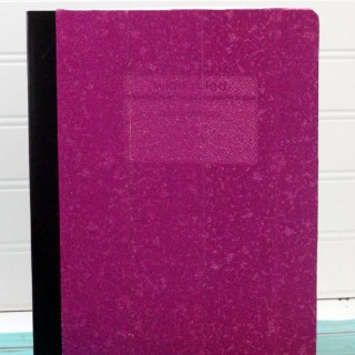 make a no mess glitter composition book