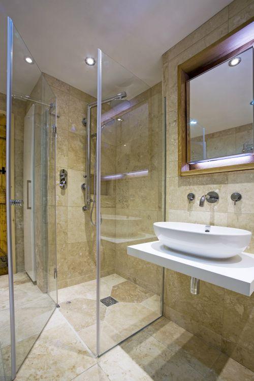 wet room in a bathroom