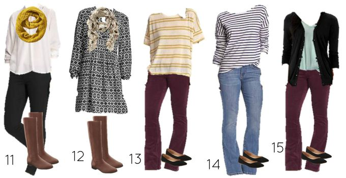 Fall Old Navy mix and match 11-15