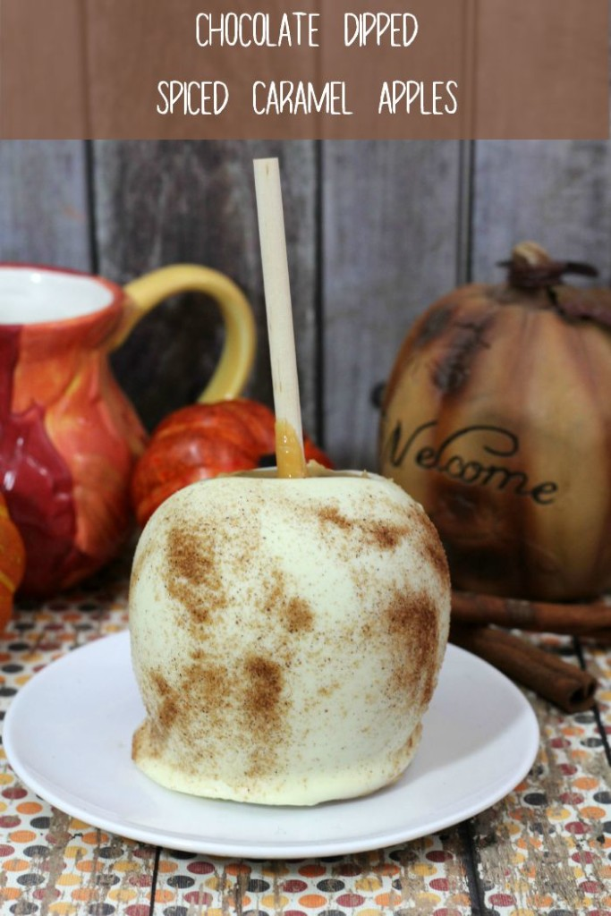How to make chocolate dipped spiced caramel apples
