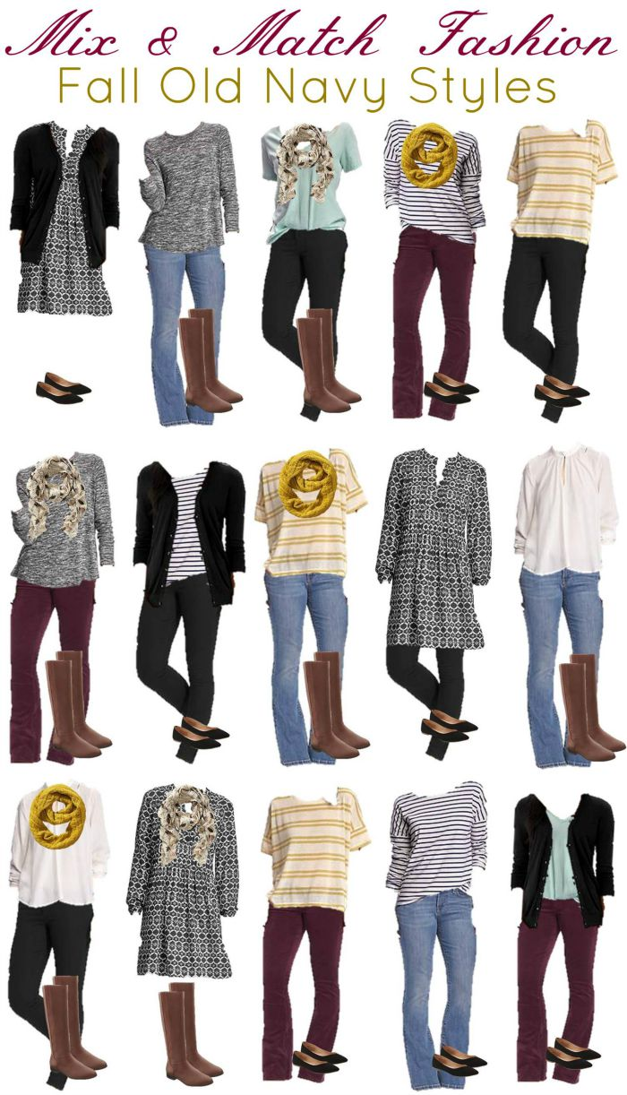 old navy mix and match wardrobe for fall how was your day. Black Bedroom Furniture Sets. Home Design Ideas