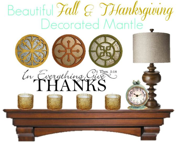 Fall Mantle Decor - Give Thanks