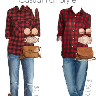 Plaid Fall Grunge Fashion Splurge vs steal