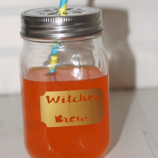 Witches Brew Halloween Mason Jar Drinking Mug