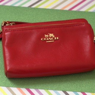 Win this Authentic Coach Leather Wristlet | Giveaway