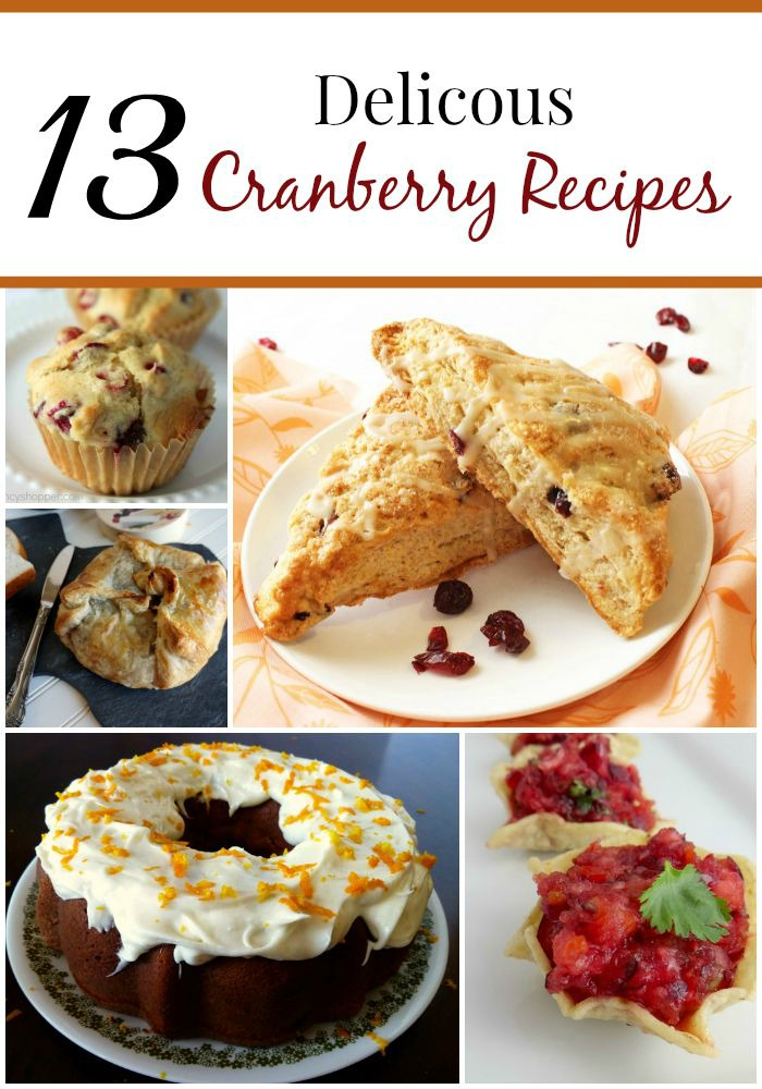 13 delicious cranberry recipes