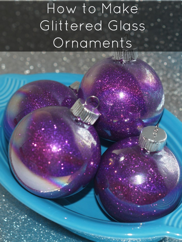 How to make glittered glass ornaments