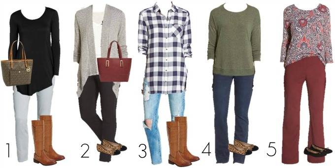 Nordstrom Mix and Match wardrobe 1-5
