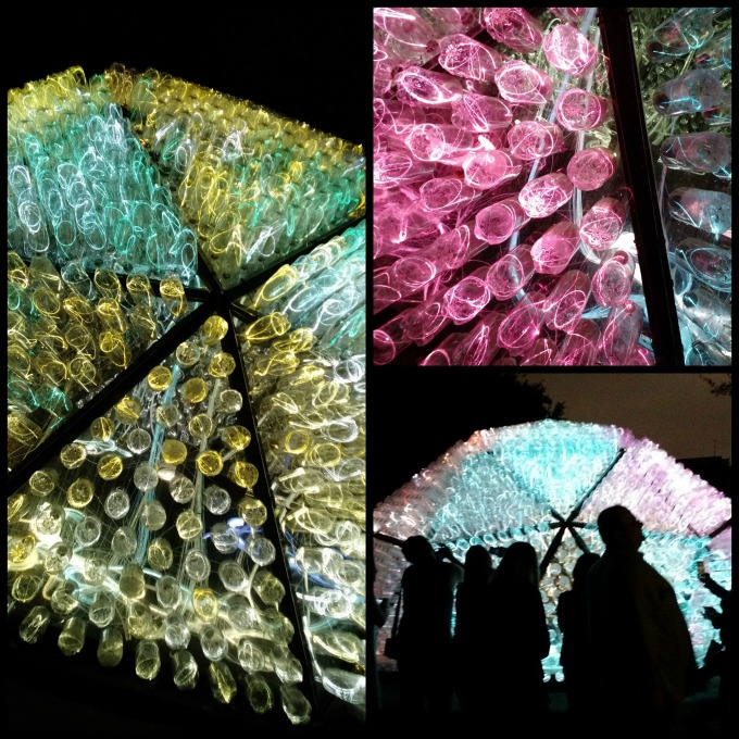bruce munro dome collage