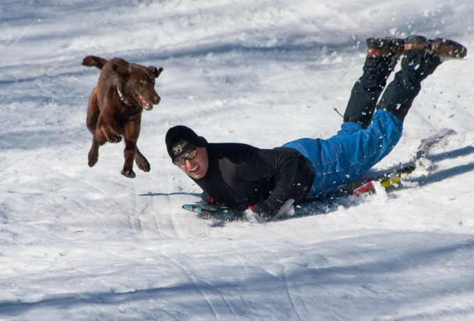 sledding outdoors