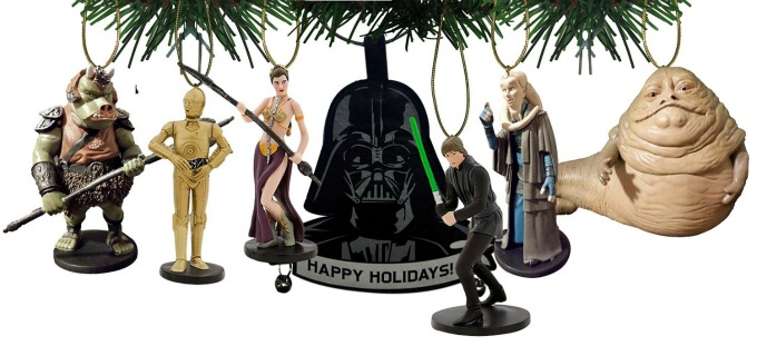 star wars 7 piece ornament set