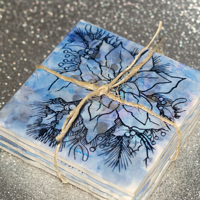 upcycled tile coasters