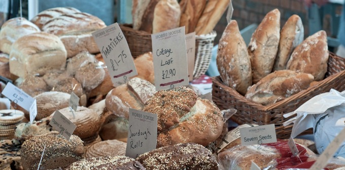 bread at the farmers market